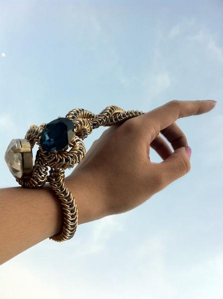 Joyz*K of Angelica Brigade Avant Garde Maille ChainMaille Bracelet Armpiece Rigmarole Glorvina