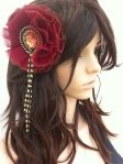 Angelica Brigade Silk and Maille Hair Accessory Tsubaki by joyz*k
