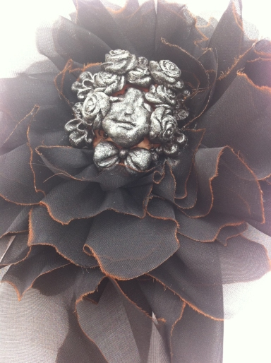 Angelica Brigade Handmade Silk Fascinator Vespera L Modified
