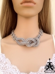 Angelica Brigade Knot Maille Necklace Catrina