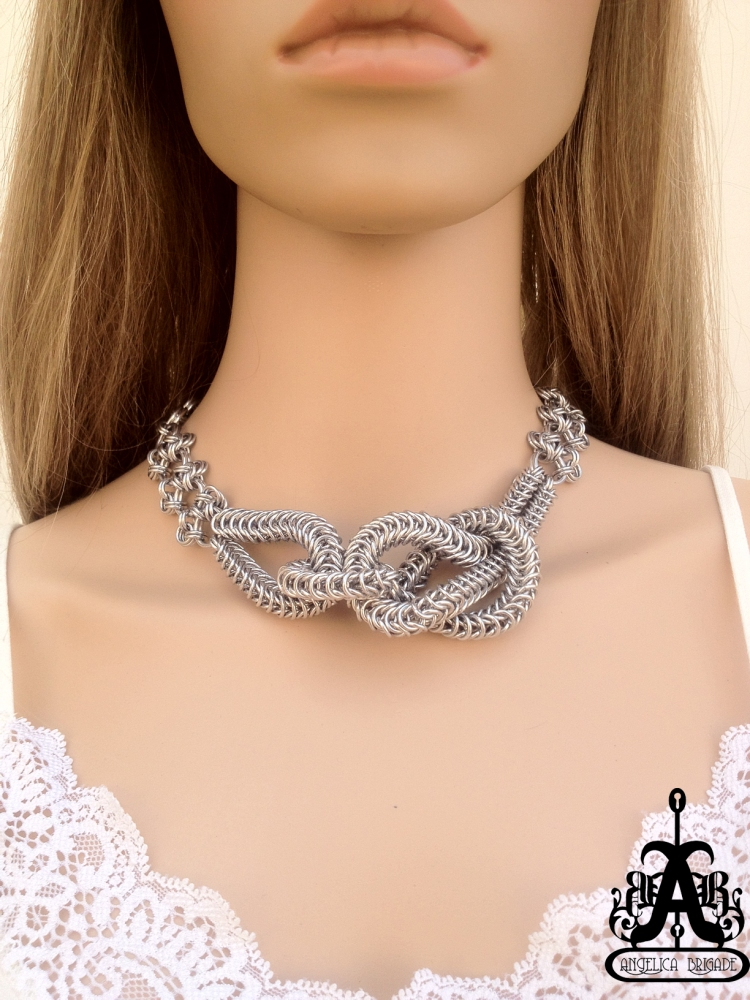 Angelica Brigade Knitted Maille Necklace Catrina