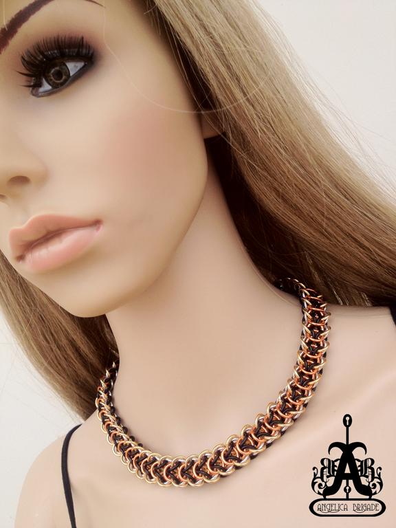 Rebeca Mojica's Elfweave Braid Necklace, Made by joyz*k from Angelica Brigade