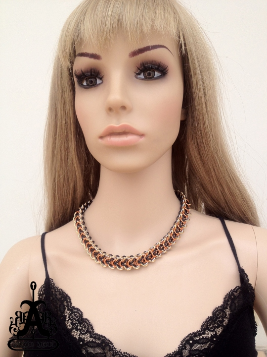 Rebeca Mojica's Elfweave Braid Necklace, Made by joyz*k from Angelica Brigade