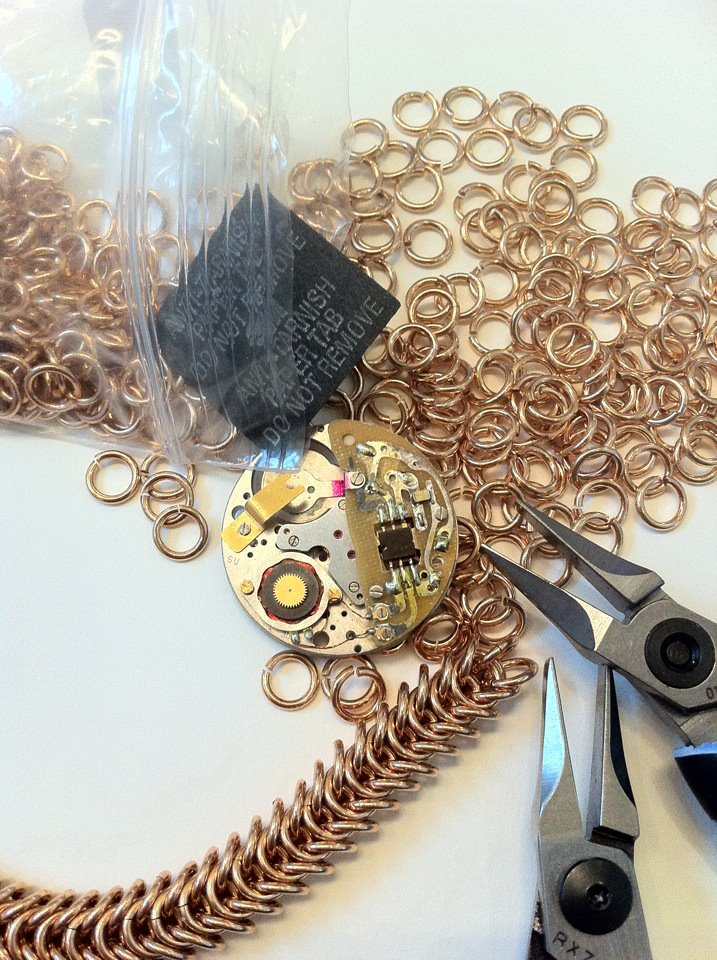 angelica-brigade_work-in-progress chainmaille