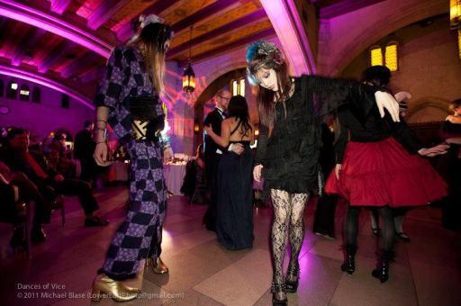 La Carmina LaCarmina LaCarmina.com & Yukiro Dravarious wearing Angelica Brigade Avant Garde Accessories by joyz*k, Mixed Media Fascinator Clips,Wearable Art, Original Design by joyz*k, All rights reserved