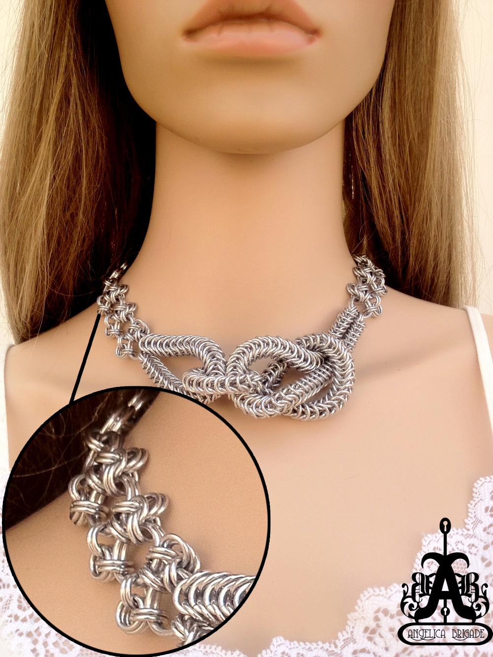 After, High Quality Jump Rings, Angelica Brigade Knott Necklace