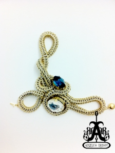 AngelicaBrigade Angelica Brigade Avant Garde Chain Maille Bracelet Armpiece Rigmarole Glorvina by joyz*k a.k.a. Miu Vermillion
