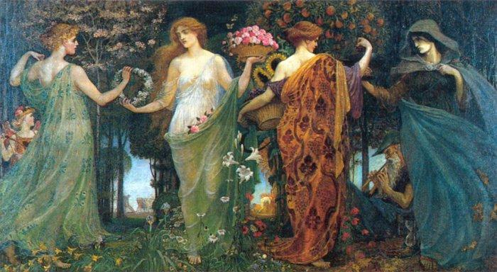The Masque of the Four Seasons Painting by Walter Crane Inspiration of the Week Angelica Brigade