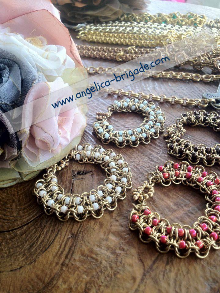 AngelicaBrigade Angelica Brigade handmade accessories accessory jewelry jewellery bracelet chainmaille chain maille chainmail bracelet necklace Swarovski Crystal Pearls