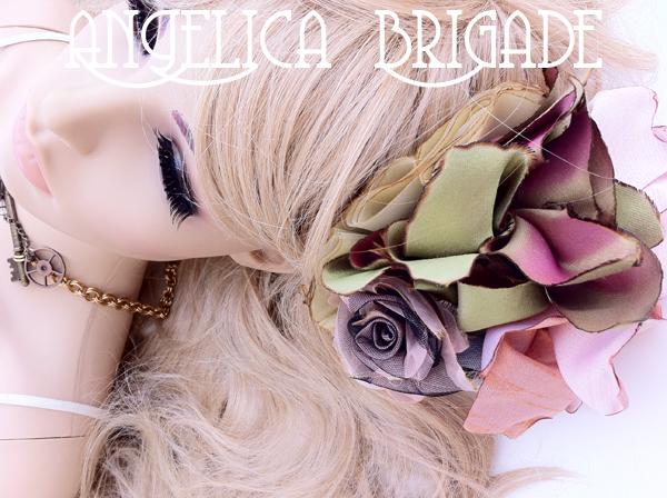 AngelicaBrigade Angelica Brigade handmade hair accessory accessories jewelry jewellery lolita chainmaille chain maille hair fascinator headpiece millinery hatinator indie designer etsy seller photographer
