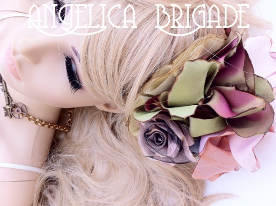 AngelicaBrigade Angelica Brigade handmade hair accessory accessories jewelry jewellery lolita chainmaille chain maille hair fascinator headpiece millinery hatinator indie designer etsy seller photographer