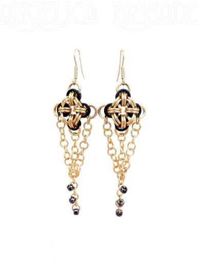 angelica brigade handmade jewelry chainmail jewellery earrings by