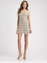 Ali Ro Lace Overlay Knit Dress