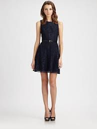 Ali Ro Belted Lace Dress Saks Fifth Avenua