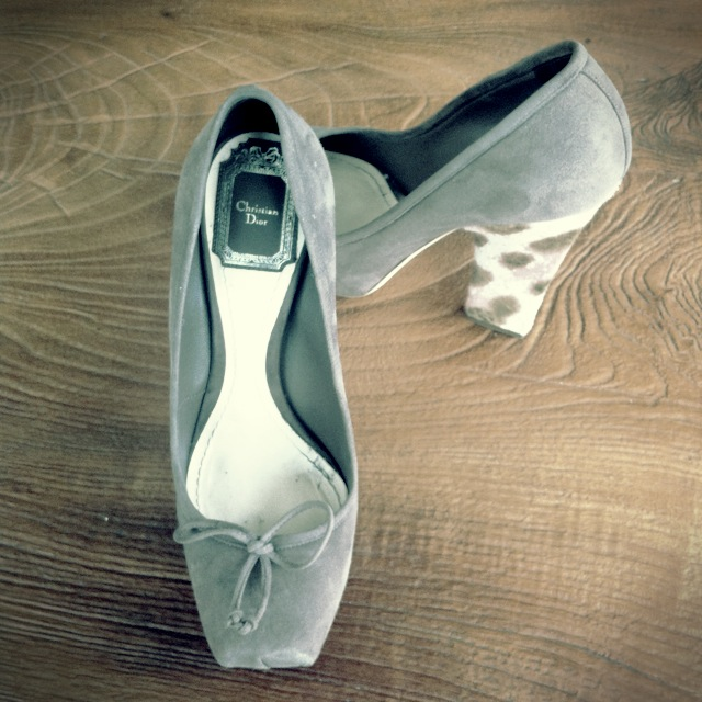 Dior Ballet Shoes Inspired Pumps High Heels Platforms Pony Heels Suede Shoes