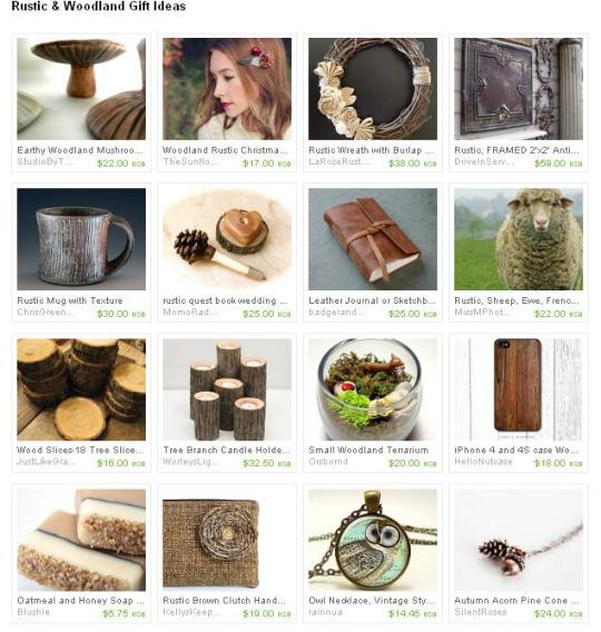 woodland and rustic christmas holiday gift ideas for her