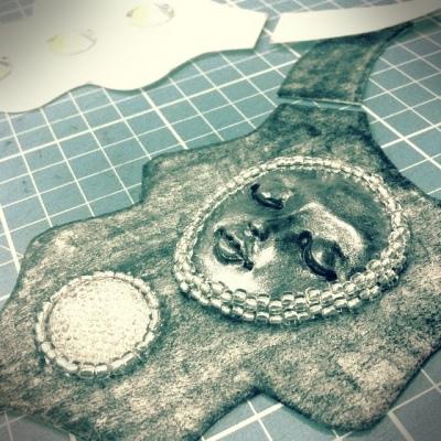 angelicabrigade angelica brigade work in progress bead embroidery handmade beaded statement bib necklace
