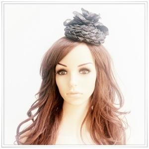 angelica brigade cocktail hat gothic llita style headpiece millinery hair accessory angelicabrigade lurex floral hatinator