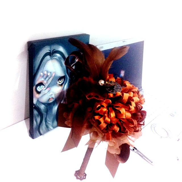 angelica brigade new studio free standing alternative bouquet jasmine becket grifith limited edition art print panasonic toughbook independent designer lowbrow art limited canvas print big eye lowbrow painting steampnki bouquet