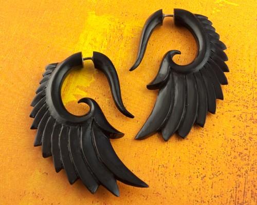 water buffalo tribal earrings