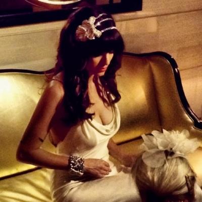 angelica brigade handmade beaded bridal headpiece amy michelson wedding dress editorial photo shoot