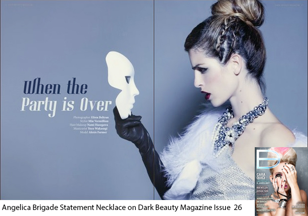 Dark Beauty Magazine Winter Fashion Editorial