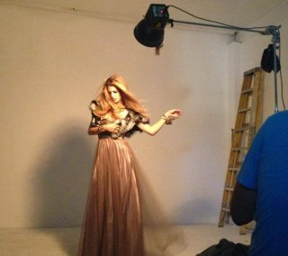 Alexis Farmer Photo Shoot Angelica Brigade AngelicaBrigade behind the scenes