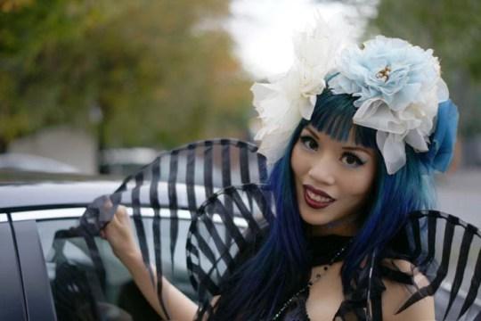 la carmina lacarmina angelicabrigade angelica brigade lip service gothic fairy costume lincoln restaurant portland oregon