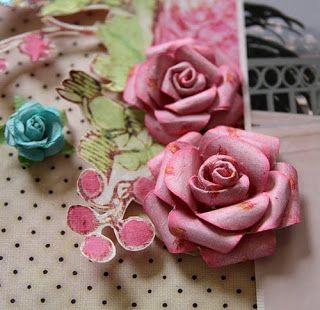 Paper Rose Prima Layout diy tutorial by stacy cohen