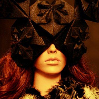angelica brigade avant garde origami headpiece mask