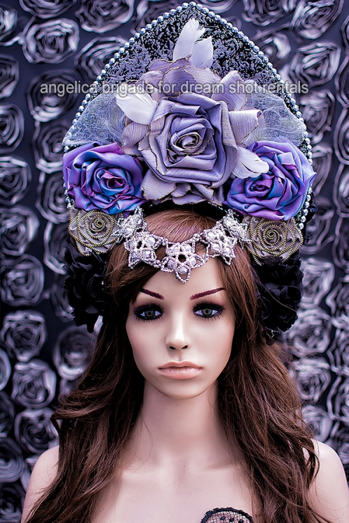angelica-brigade-for-dream-shoot-rentals_tasha-headpiece_iridescent-purple-lilac-roses-and-beadwork-side