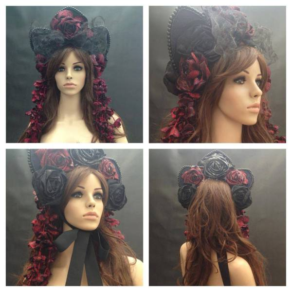 angelica-brigade_demi-couture_bonnet_floral-headpiece_gothic-lolita_victorian_hat_headdress