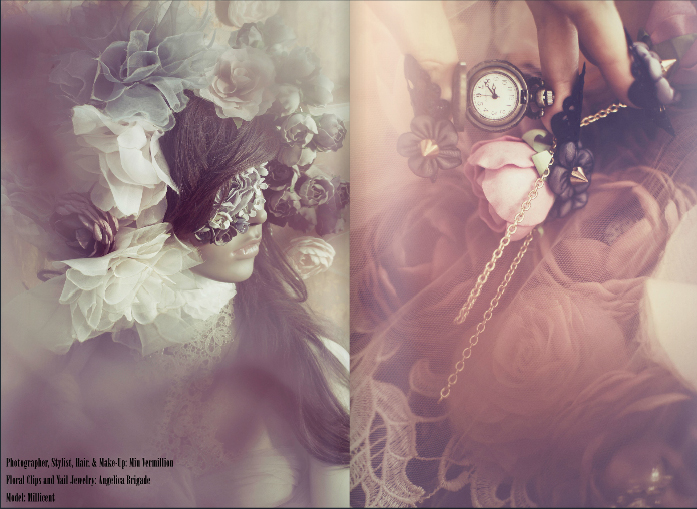 Conceptual Photography by Miu Vermillion for Sugarkiss Magazine - All jewelry and accessories are by Angelica Brigade