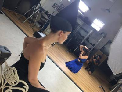 [Behind the Scenes] Lindsay Adler for Kelby Training, featuring a custom made headpiece I created just for this class