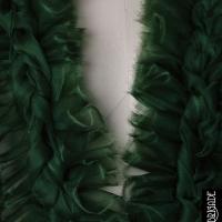 Custom Ruffled Green Top for an Editorial Shoot